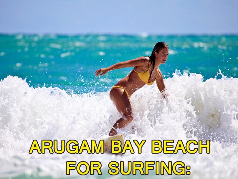 Arugam Bay beach for surfing